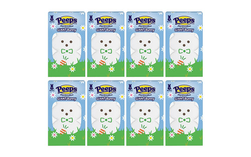 PEEPS 1 ct. Large White Marshmallow Bunny Package, Pack of 8