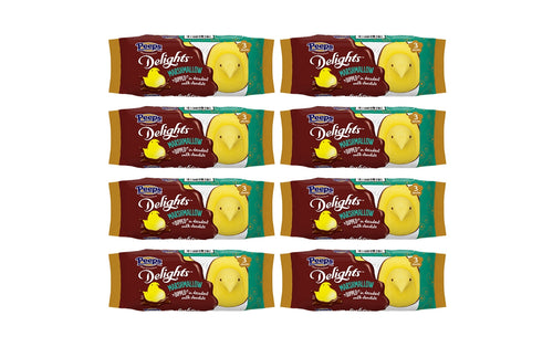 PEEPS 3 ct. Delights Yellow Chicks Dipped in Milk Chocolate Package, Pack of 8