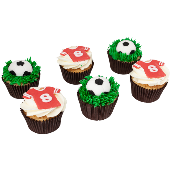 Football Fanfare Cupcakes