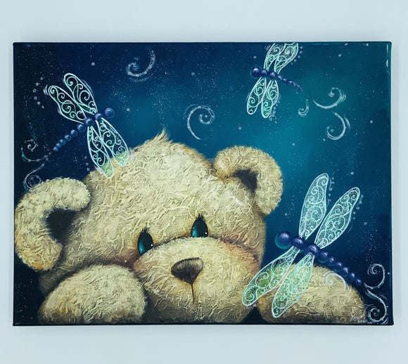 Videolezione Dragonfly bear Design by Holly Hanley Out of the Wood