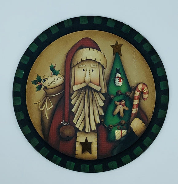 Videolezione Homespune santa Design by Maxine Thomas Out of the Wood
