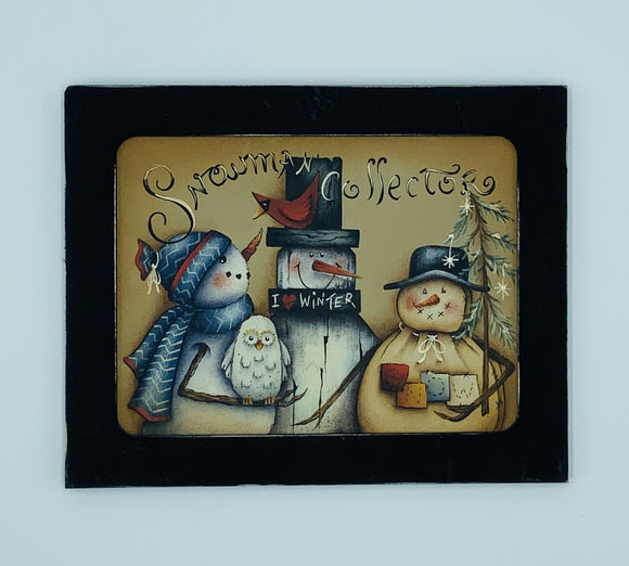 Videolezione online Snowman collector Design by Maxine thomas Out of the Wood