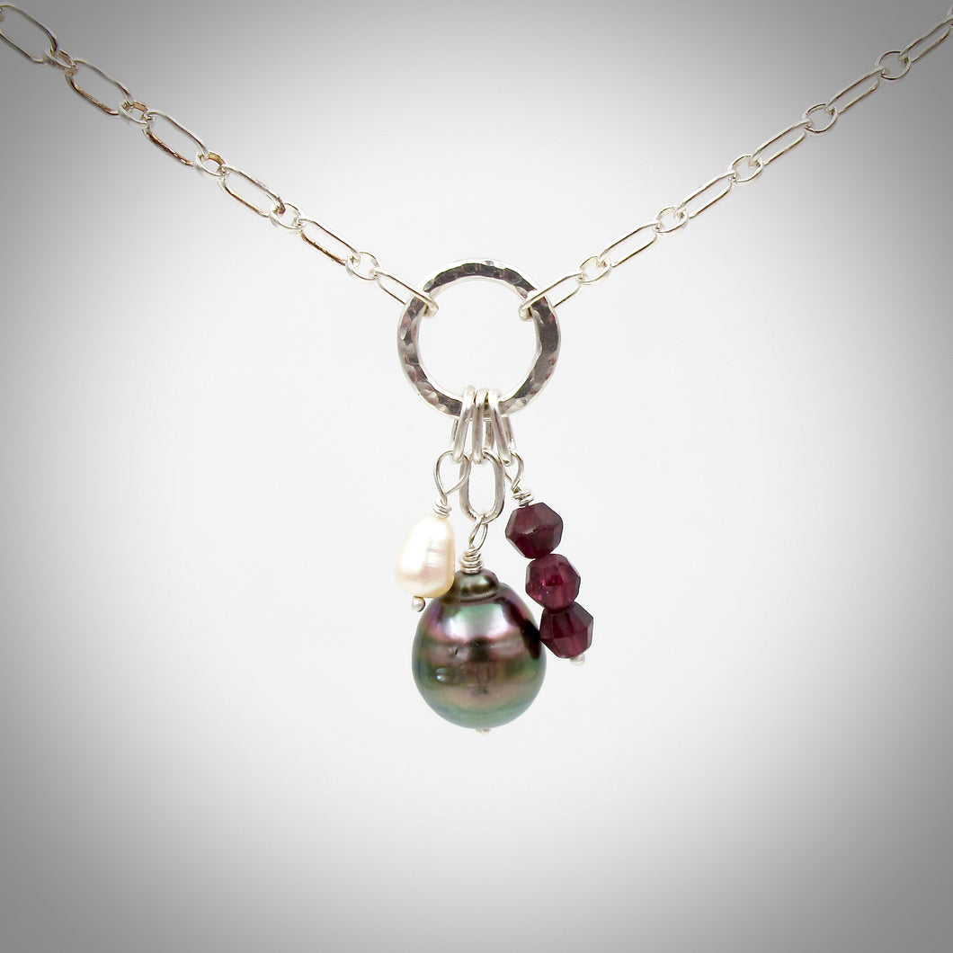 The Charmer Necklace with Tahitian Pearl