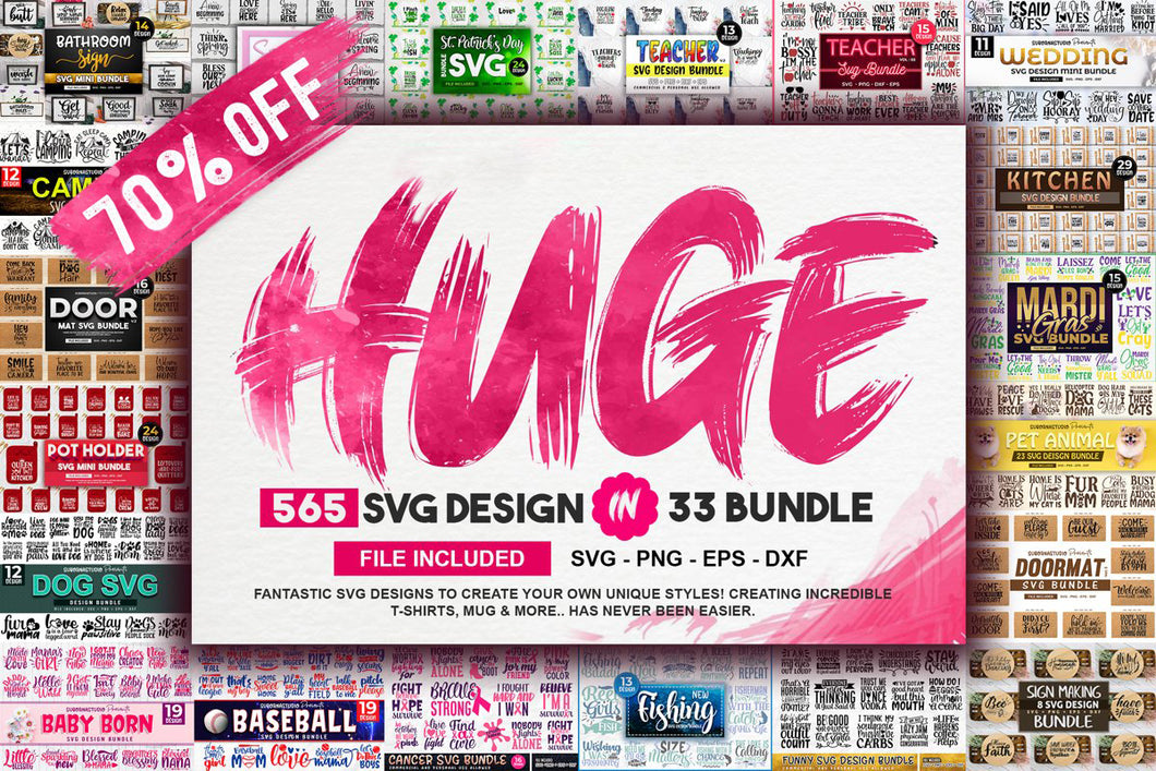 565 Huge Svg Bundle Design Pack for Cricut. - LoveMyCuttables.com