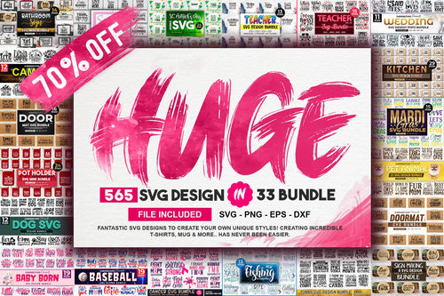 565 Huge Svg Bundle Design Pack for Cricut - LoveMyCuttables.com