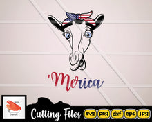 Load image into Gallery viewer, Zebra 'Merica SVG cut file for Cricut - LoveMyCuttables.com