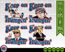 Load image into Gallery viewer, 4 Keep on Trumpin SVG Bundle Trump cut file - LoveMyCuttables.com