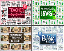 Load image into Gallery viewer, 565 Huge Svg Bundle Design Pack for Cricut. - LoveMyCuttables.com