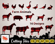 Load image into Gallery viewer, Farm Svg Animals Silhouettes | Svg Bundle Dxf Png | High Quality Files perfect for your next DIY Project - LoveMyCuttables.com