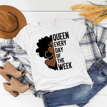 Load image into Gallery viewer, Queen Every Day of the Week Short-Sleeve T-Shirt - LoveMyCuttables.com