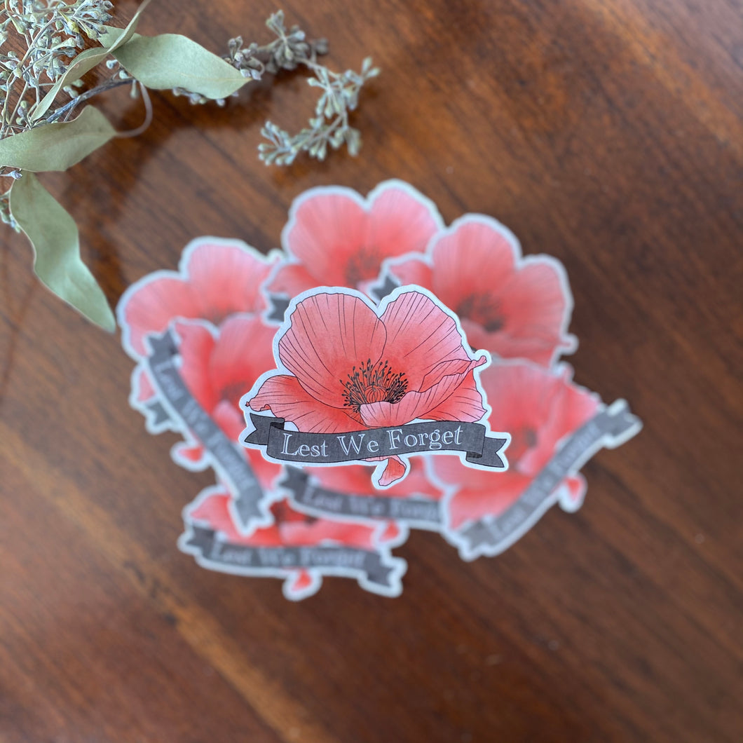 Lest We Forget Poppy Sticker