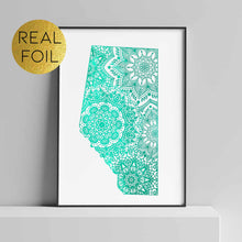 Load image into Gallery viewer, Alberta Canada Foil Print
