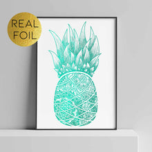 Load image into Gallery viewer, Mandala Pineapple Foil Print