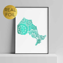 Load image into Gallery viewer, Ontario Canada Foil Print