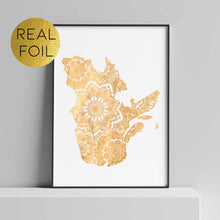 Load image into Gallery viewer, Québec Canada Foil Print