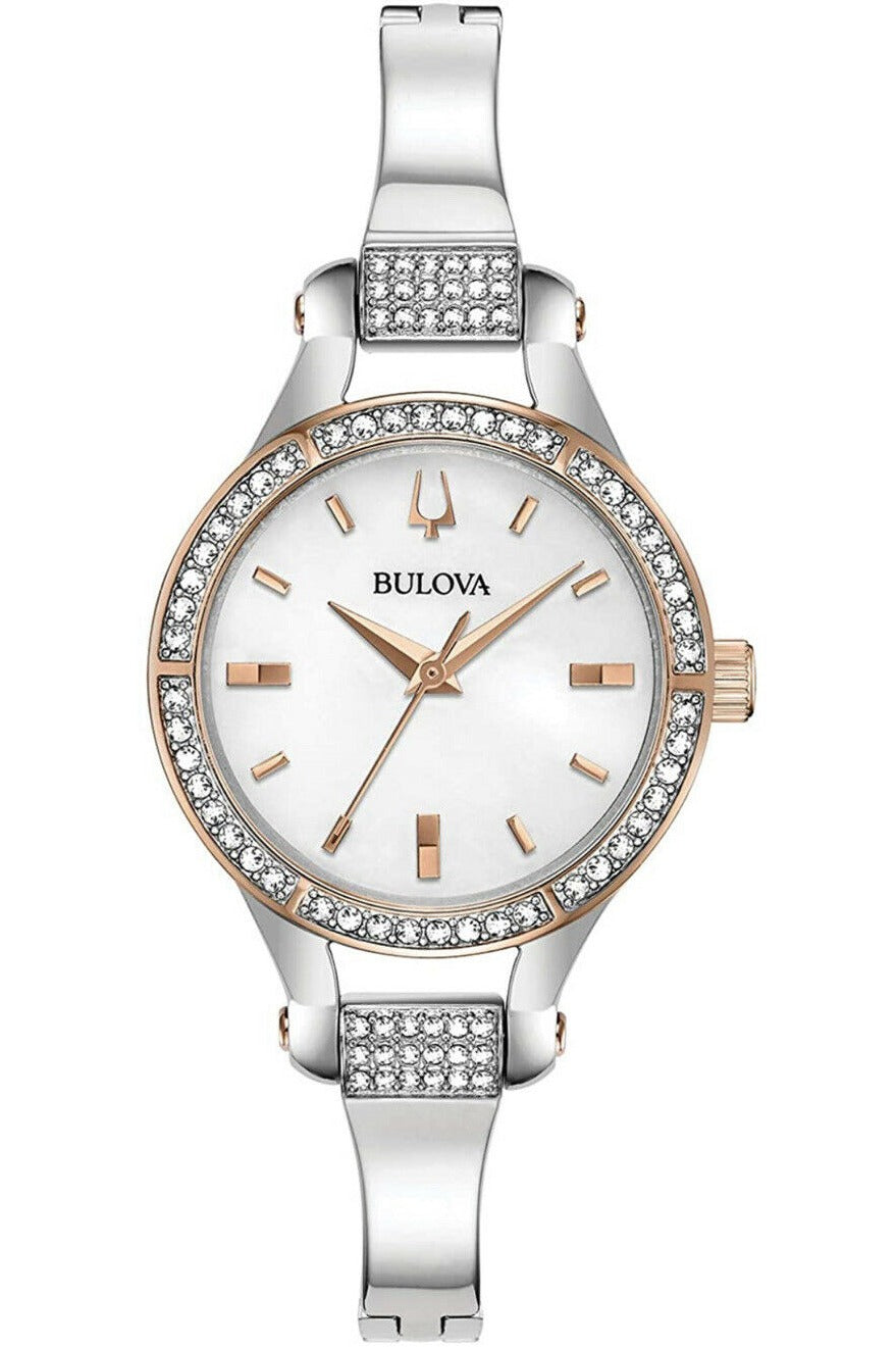 Bulova Women's Crystal Accent Half-Bangle Watch - (MSRP $350.00)