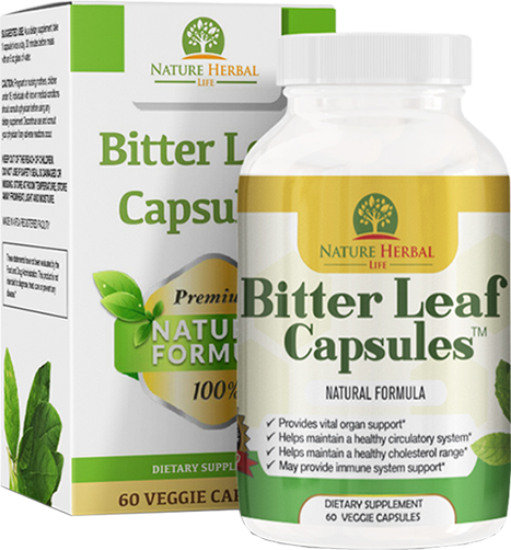 Bitter Leaf Capsule (750mg) 60 Capsules. Antioxidant and Whole Body Wellness Supplement