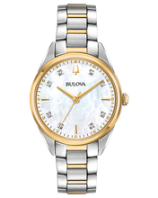 Load image into Gallery viewer, Bulova Women's Sutton Diamond Two Tone Stainless Steel