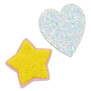 Icon Pack 4 - Glitter Heart Iridescent & Fluffy Star