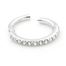Load image into Gallery viewer, Tish Lyon 9kt Pave Gem Eternity Hinge Ring