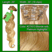 #27/613 Blonde w/ Platinum Highlights - 20 inch Body Wave-thumbnail