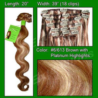 #6/613 Chestnut Brown w/ Platinum Highlights - Body Wave-thumbnail