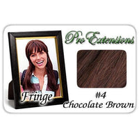 #4 Chocolate Brown Pro  Fringe Clip In Bangs-thumbnail