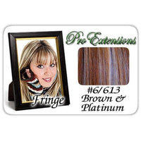 #6/613 Chestnut Brown & Platinum Highlights Clip In Bangs-thumbnail