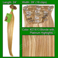 #27/613 Golden Blonde w/ Platinum Highlights - 24 inch Remy-thumbnail