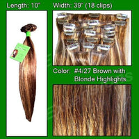 #4/27 Brown w/ Blonde Highlights - 10 inch-thumbnail