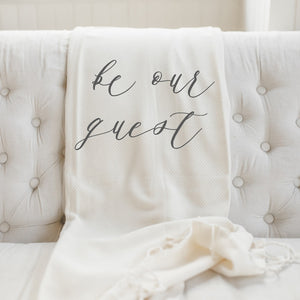 Be Our Guest Lightweight Throw Blanket