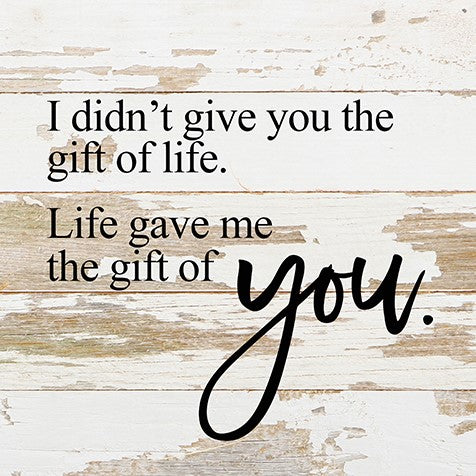 I Didn't Give You The Gift Of Life