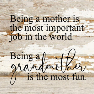 Being A Mother Is The Most Important Job