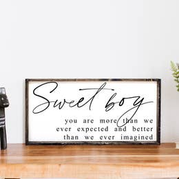 Sweet Boy Wood Sign