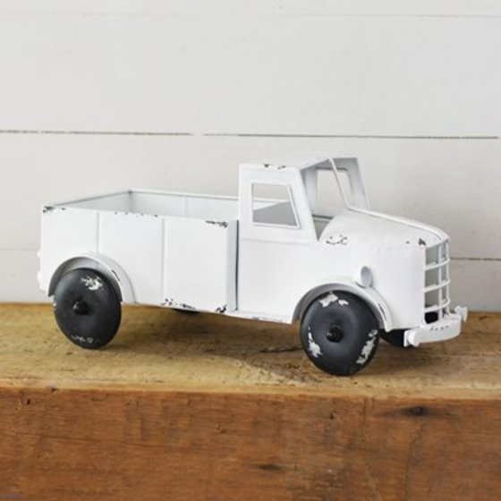 Old White Truck Decor
