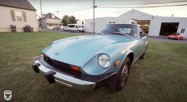 restored Datsun Z AMMO NYC disaster detail