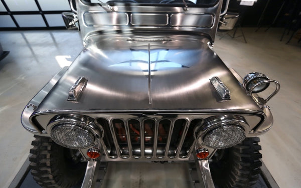 Polished stainless steel willies Jeep