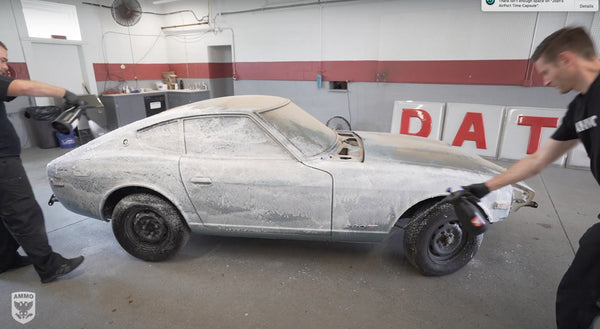 AMMO frothe barn find first wash datsun Z