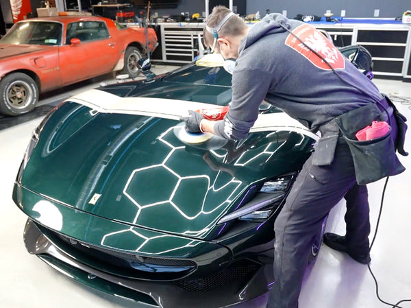 Paint correction test spot with Rupes DA