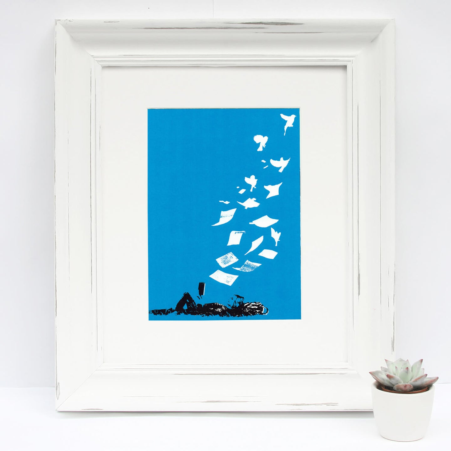 'Flying Low' Original Silkscreen Print