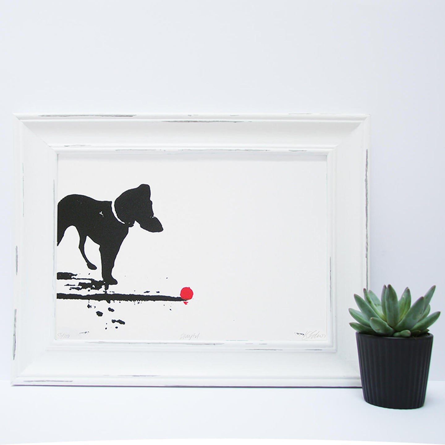 'Playful' Original Handmade Silk Screen Print