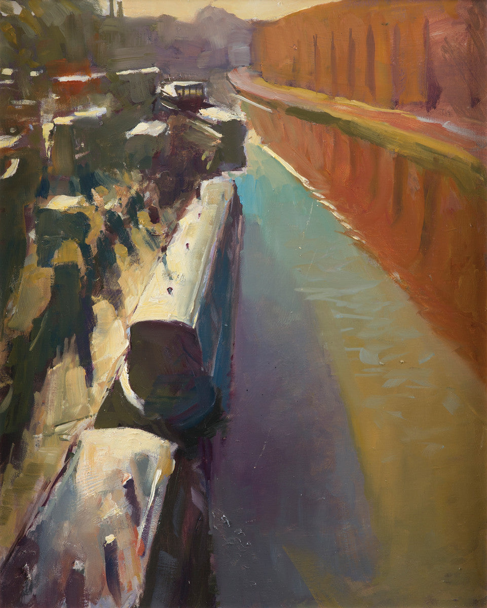 Rob Pointon - Steelite Factory and Stoke Boats Oil by Pointon Rob