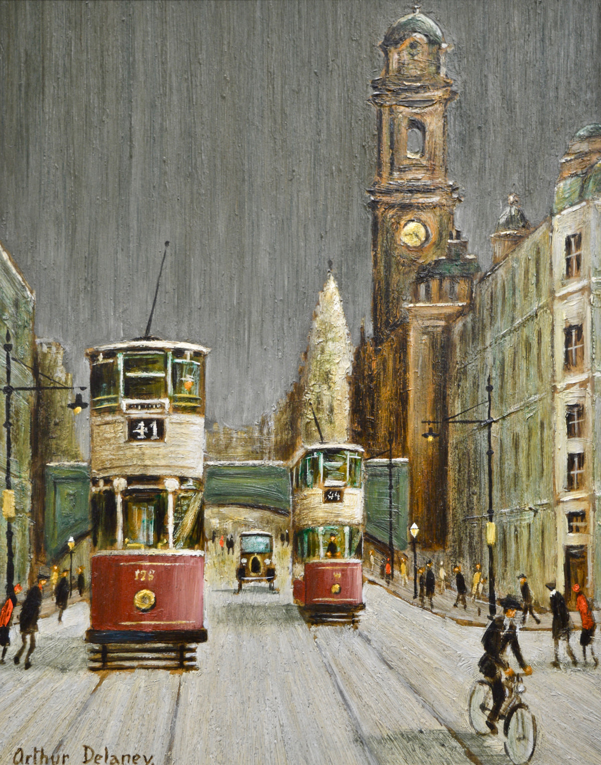 Arthur Delaney oil painting Oxford Road Manchester