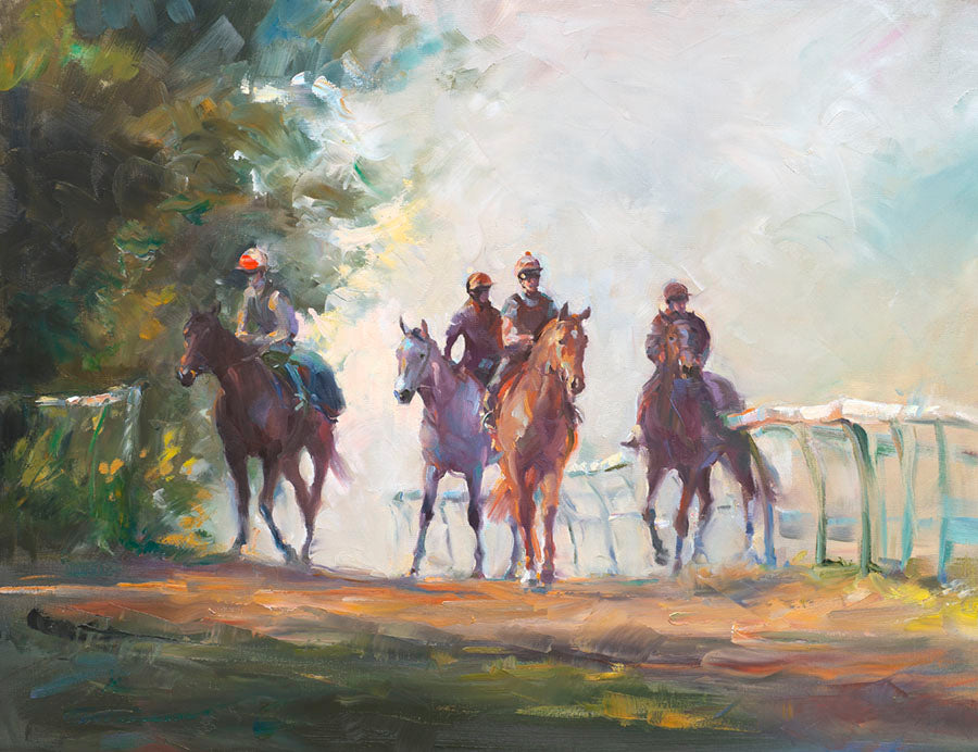 Jacqueline Stanhope oil painting Warren Hill Newmarket