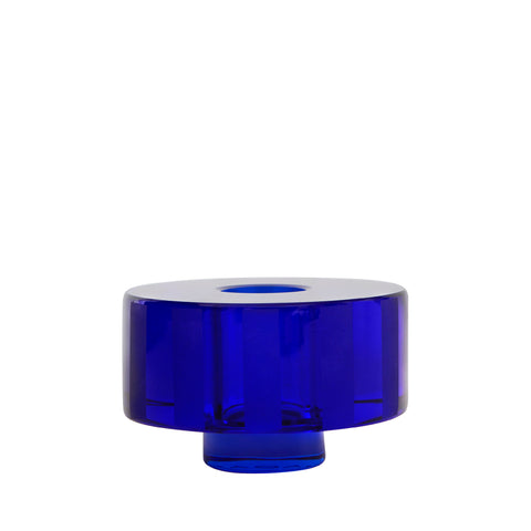 Graphic Candleholder Electric Blue