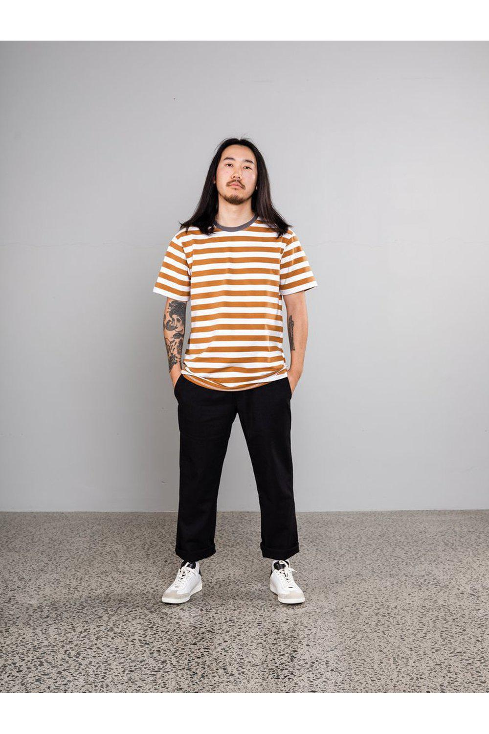 Standard Stripe T-shirt / Mustard | Sly Guild | Mad About The Boy