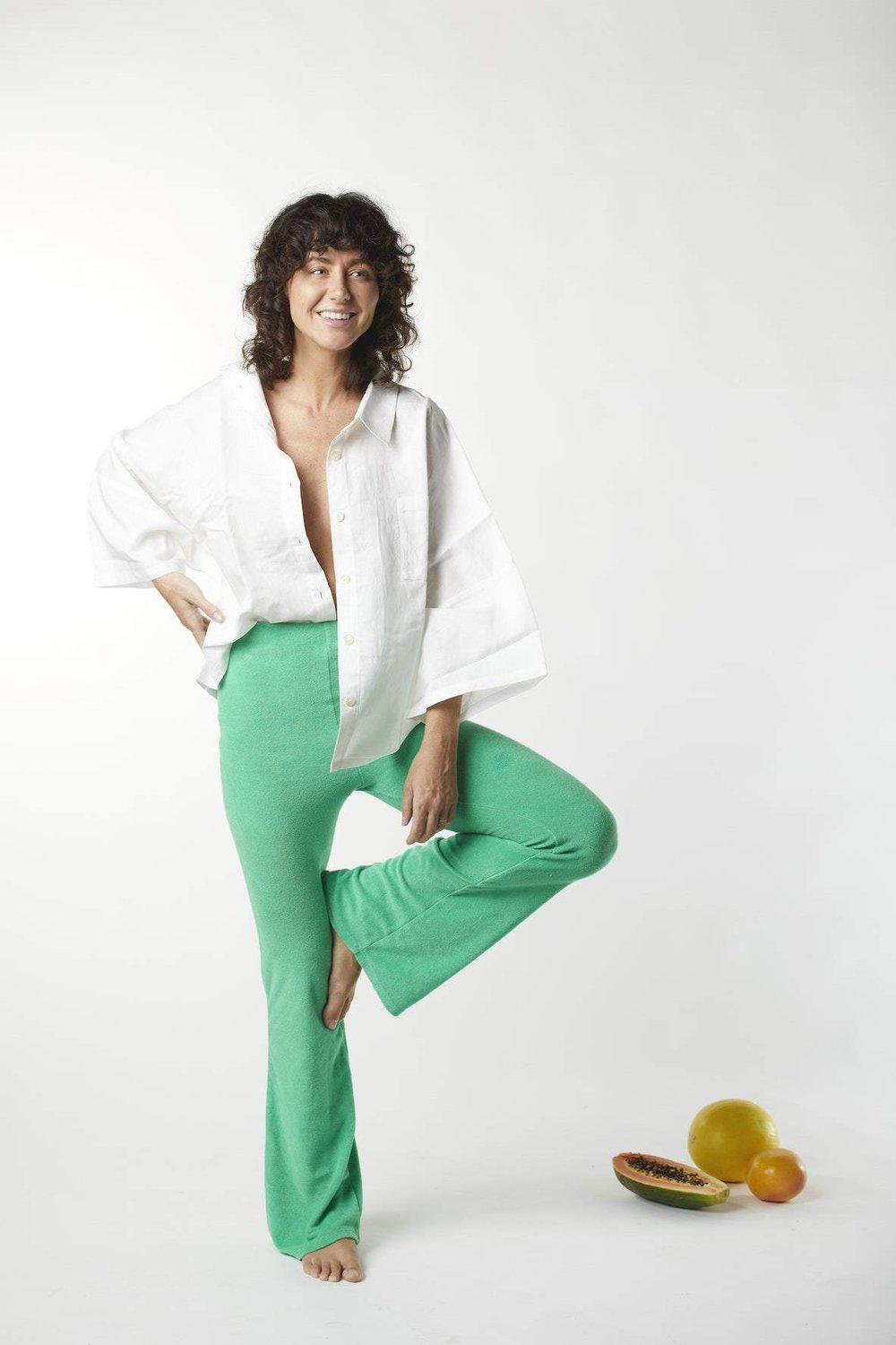 Terry Flared Pant / Kiwi Fruit | Summi Summi | Mad About The Boy