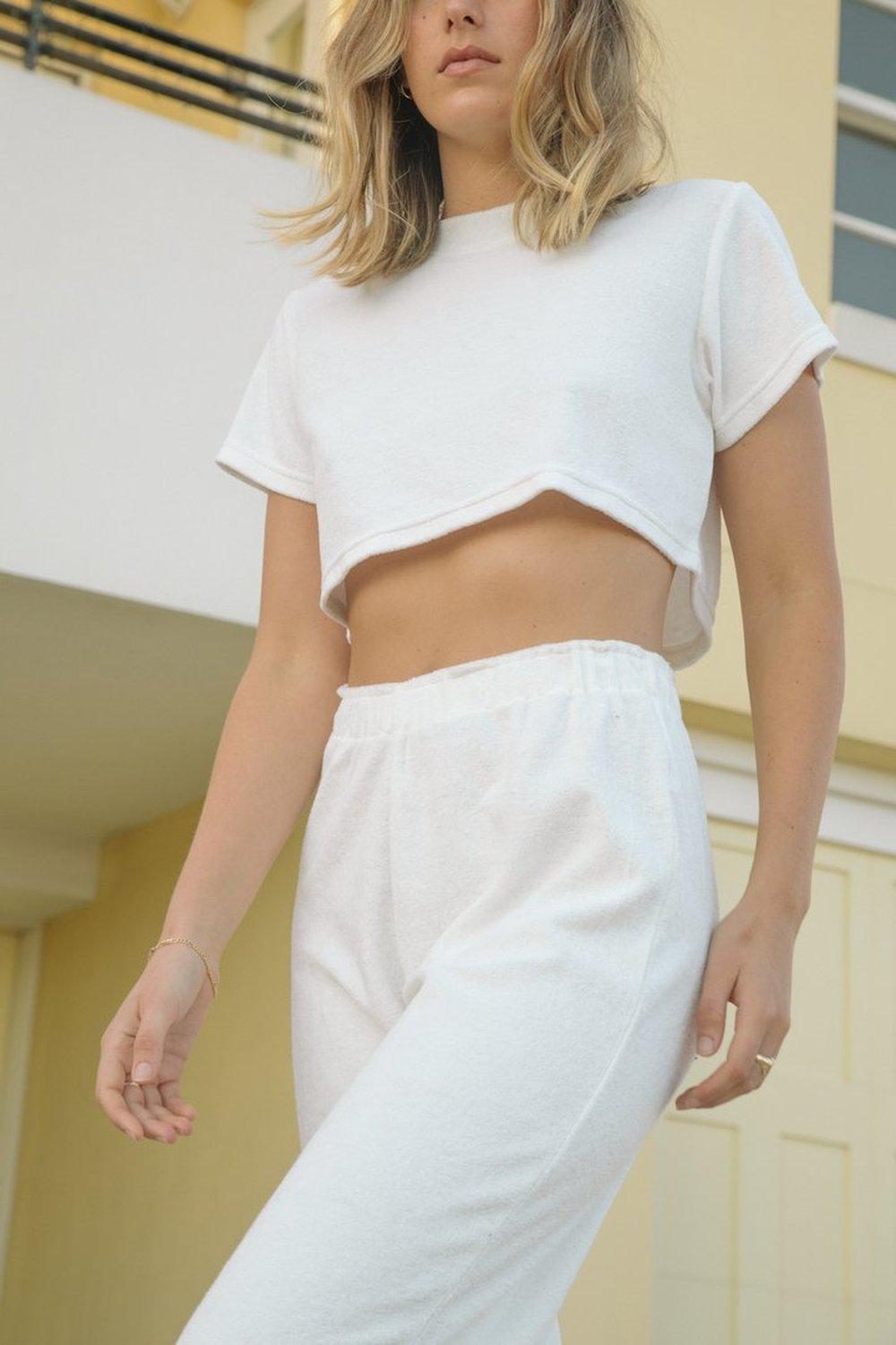 The Cropped Tee / White | Summi Summi | Mad About The Boy