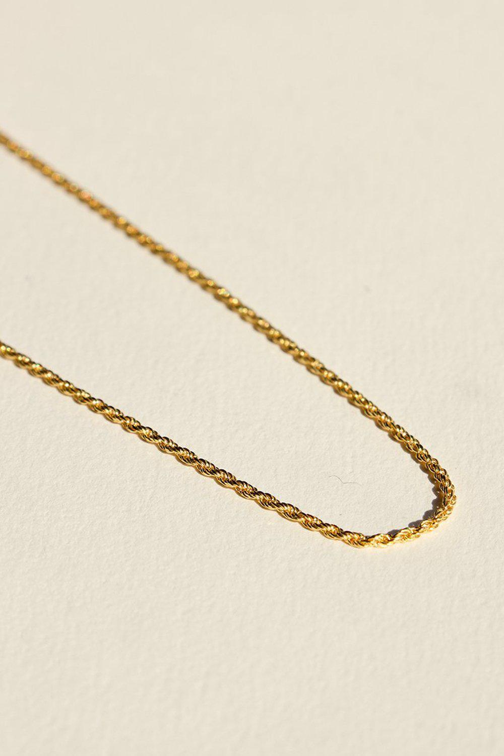 925 Twist Chain Necklace / Gold | Brie Leon | Mad About The Boy