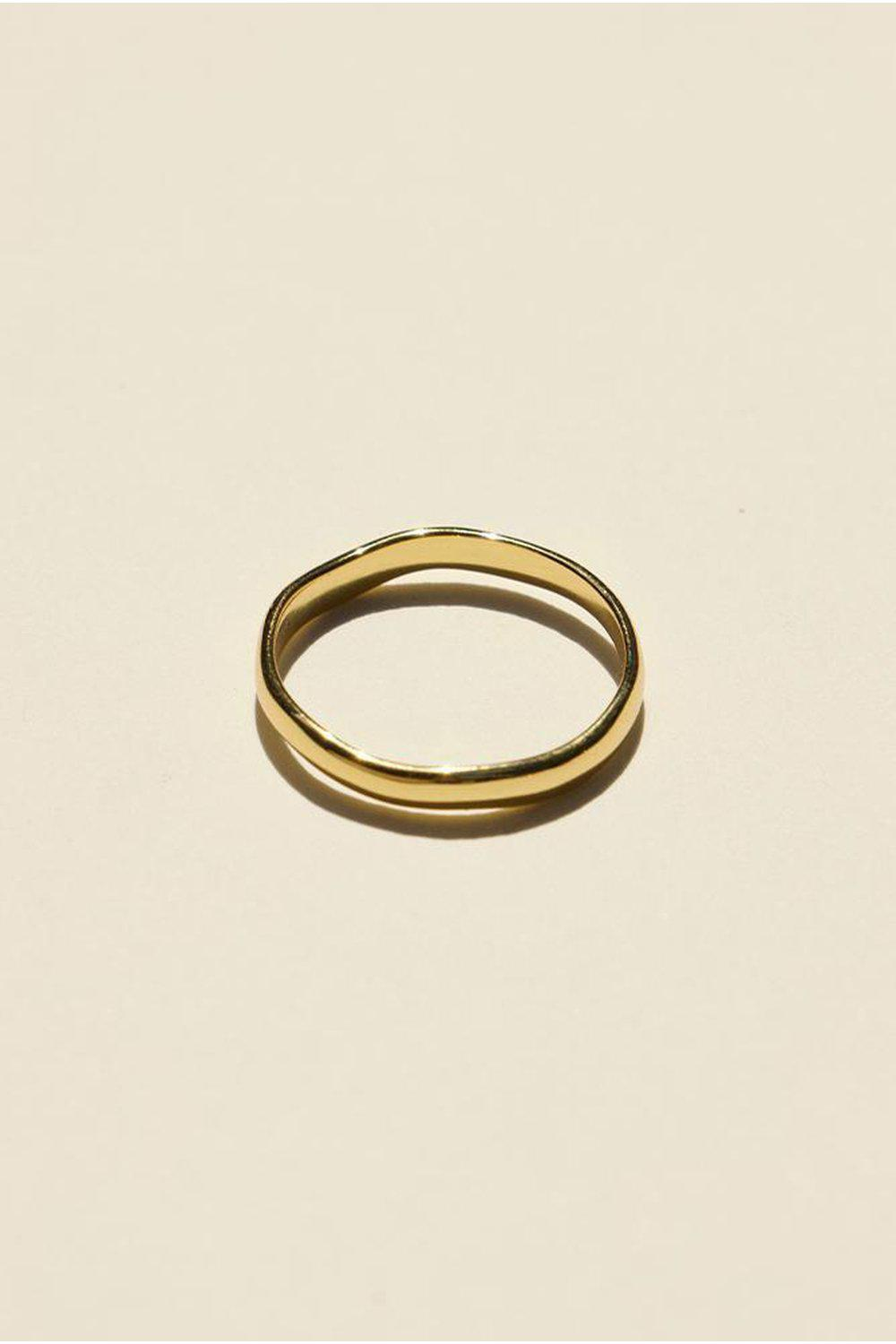 925 Organic Ring Thin / Gold | Brie Leon | Mad About The Boy
